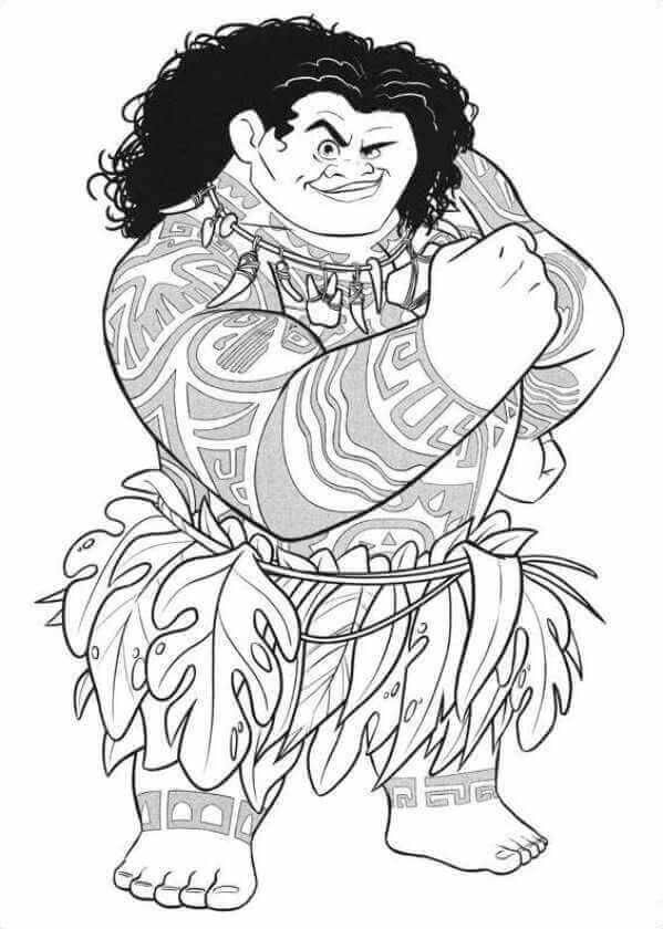 Printable Moana Coloring Pages Collection Moana Coloring Pages