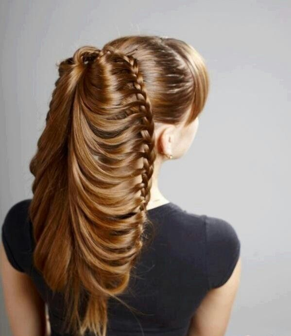 18 Creative And Unique Wedding Hairstyles For Long Hair: 13 Best Images About Cascade And Waterfall Hairstyles On