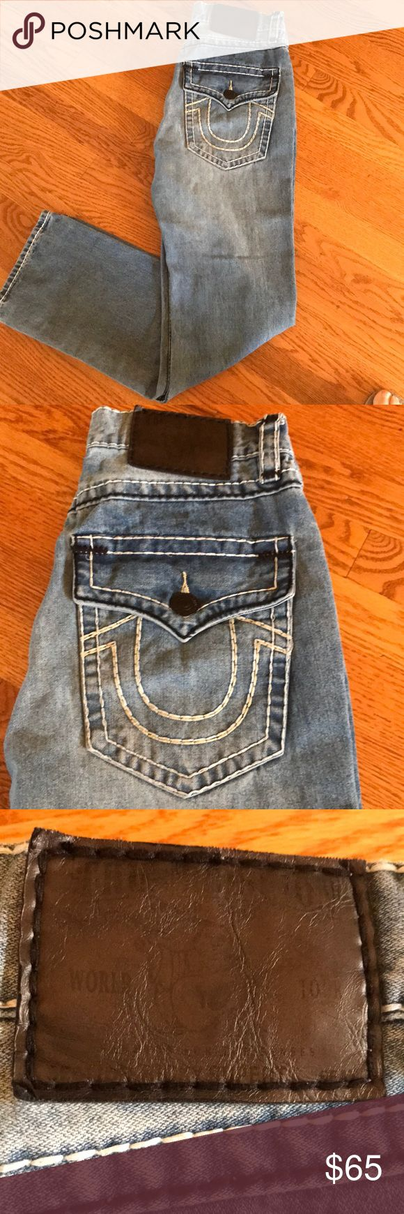 True Religion jeans Stone washed True Religion jeans. NEVER WORN!!! Authentic. True Religion Jeans Straight Leg