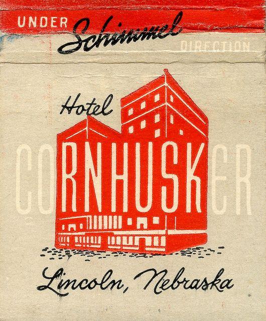 Hotel Cornhusker logo design