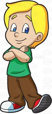 A Young And Very Confident Boy Cartoon Clipart