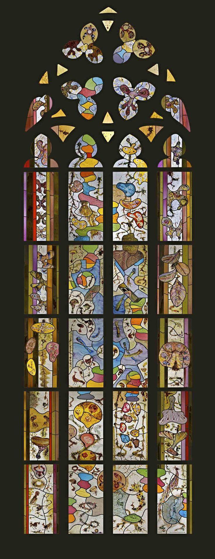 De Nieuwe Kerk, Amsterdam.  Tuin van glas