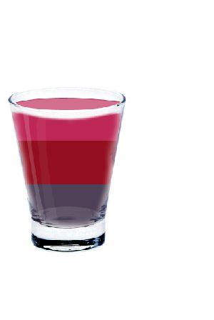 Cocktail fruits rouges      5 cl. Jus de Cassis     5 cl. Jus de Cerise     5 cl. Sirop de Mûres