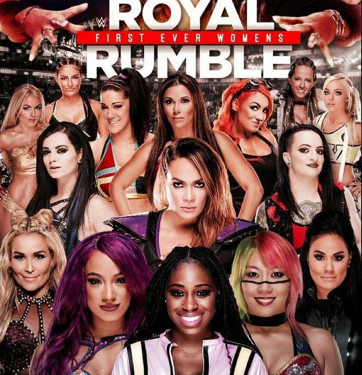 Royal Rumble: Mandy Rose Sonya DeVille Bayley Mickie James Becky Lynch Sarah Logan Liv Morgan Paige Nia Jax Ruby Riot Natalya Sasha Banks Asuka & Tamina