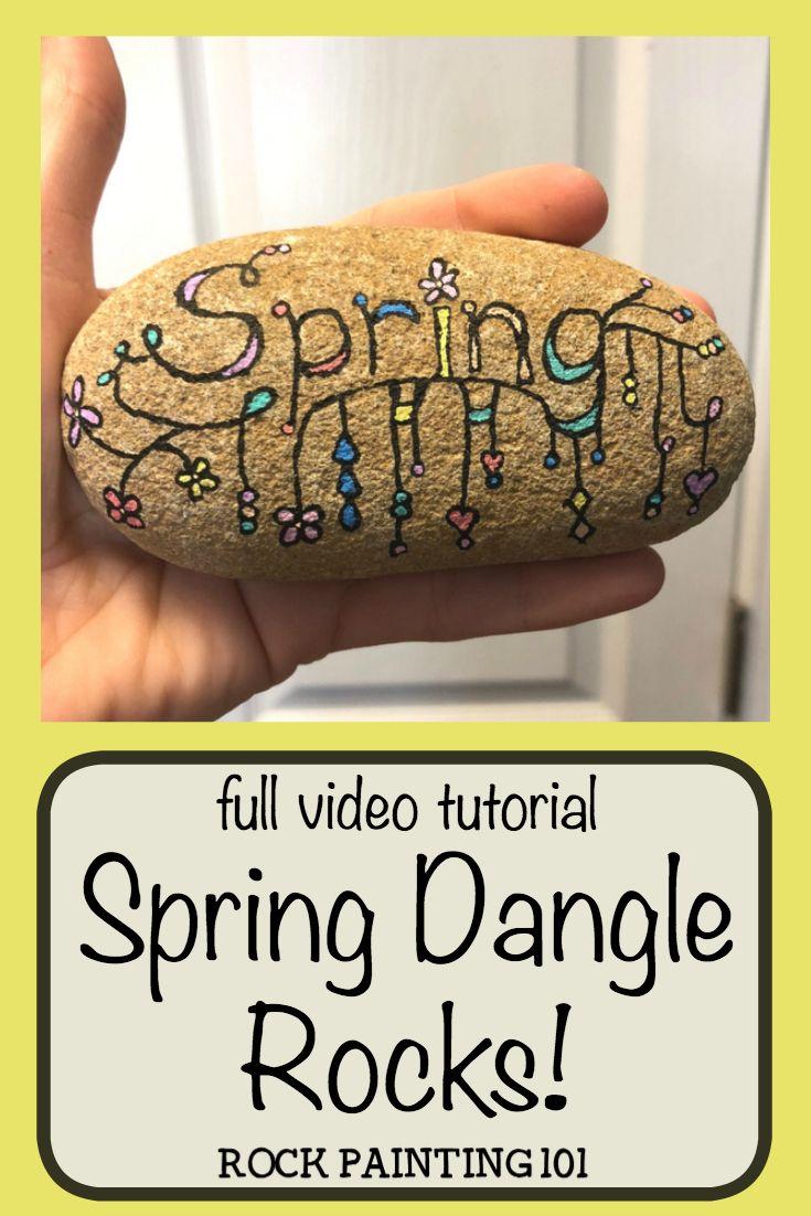 Zendangle Spring Rocks Creating Fun Dangles Doodles On Painted
