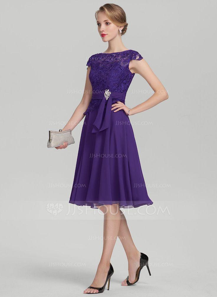 Magnífico Vestido De Cóctel Del Cordón De Marfil Composición - Ideas ...