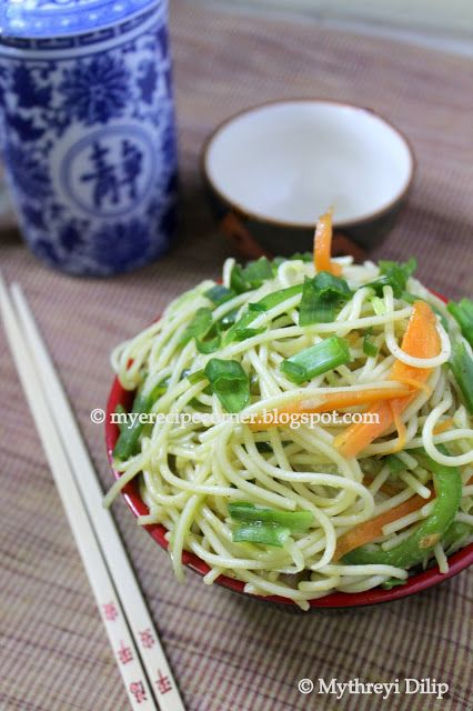 Speciality Recipes From Mye Kitchen.: Chow Mein Vegetable Noodles Recipe
