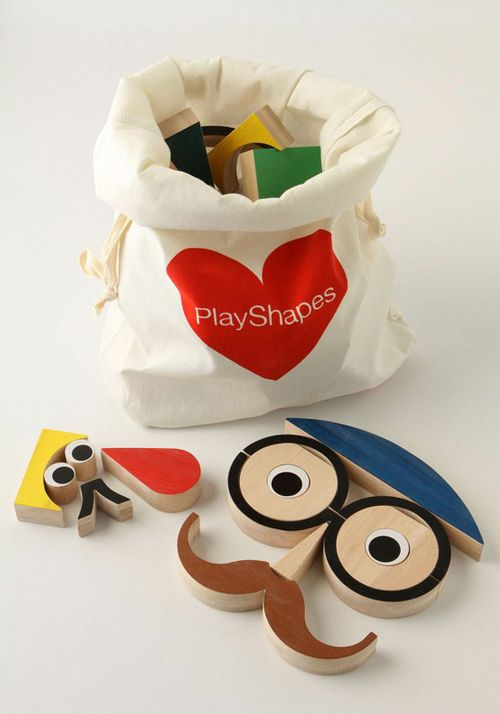 Today I'm loving … these Playshapes Blocks from Anthropologie. They come in a cute canvas bag