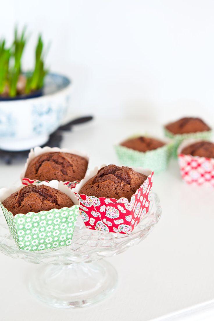 Chokladmuffins med härlig vaniljkräm – Hildas
