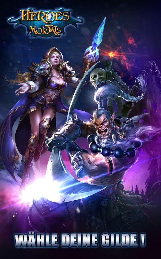 Heroes X Mortals WÄHLE DEINE HELDEN UND FORDERE ANDERE SPIELER IN DER ARENA HERAUS Mobilisiere eine Legion aus Helden und Mortals. Bekämpfe die Dunklen Kräfte, die die Welt in die Dunkelheit zu ziehen drohen. Rekrutiere und rüste mehr als 30 Helden aus, um diese fiesen Kreaturen zu zerschlagen!   ONLINE ACTION-ROLLENSPIEL Heroes & Mortals: Kriegsarena ist ein Action-Rollenspiel, in dem du deine Freunde online treffen und in epischen Schlachten gegen andere Spieler antreten kannst.