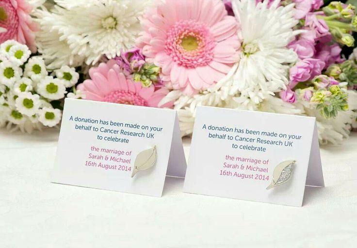 Elizabeth Stuart Collaboration With Cancer Research Uk Wedding Favour Pins