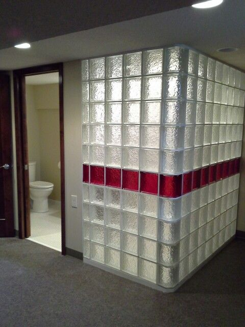 Glass block shower walls all things tile pinterest for Acrylic block shower walls