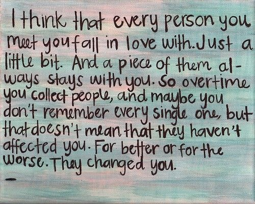 Fall In Love With Everyone You Meet