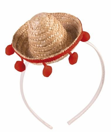 Celebrate Cinco de Mayo while wearing this cute Mini Straw Sombrero Headband with Pom Poms! This Mini Straw Sombrero Headband is perfect for any fiesta! It's a great party favorite that can accessorize your Cinco de Mayo costume or outfit! Additional Cinco de Mayo accessories and party supplies are available and sold separately.