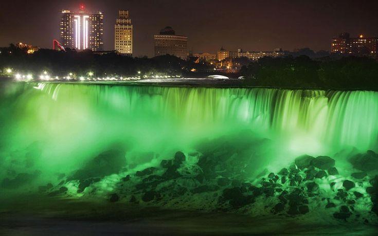 Niagara Falls goes green for St. Patrick's Day