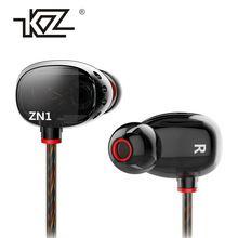 KZ ZN1 mini Dual Driver Turbo Amplo Campo De Som do Fone de Ouvido Intra-auriculares Fones De Ouvido Baixo Extra(China (Mainland))