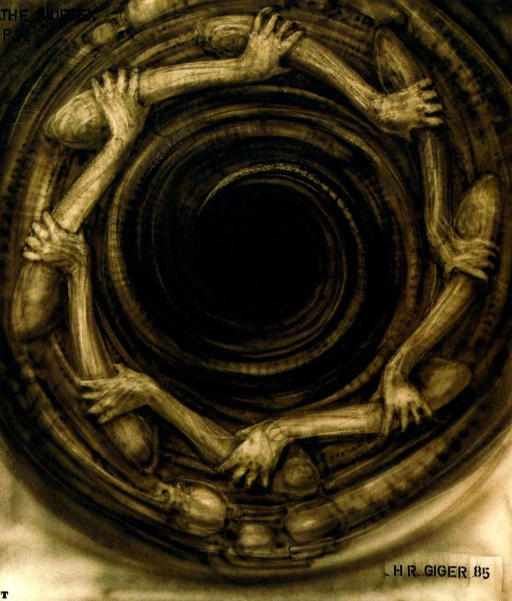H. R. Giger | Giger, No P22, POLTERGEIST 2, THE VORTEX, acrylic on paper ...