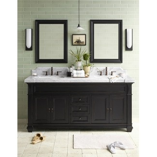I Love The Vanity And Background Tile. I Would Prefer One Lone Mirror  Instead Of · Background TileDark BathroomsBathroom ...