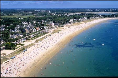 Carnac Plage, France. Carnac is a village and commune beside the Gulf of Morbihan on the south coast of Brittany and part of the Morbihan department of northwestern France.