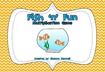 Fish 'n' Fun Multiplication Game (Free - Cute Game for beginning facts up to 6x6)