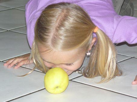 Pour terminer la semaine, la météo n'étant pas au rendez-vous, j'ai proposé aux enfants une activité motrice à l'intérieur.Elle s'intitule : les pommes à pousser...  Le principe du jeu : Donner ...