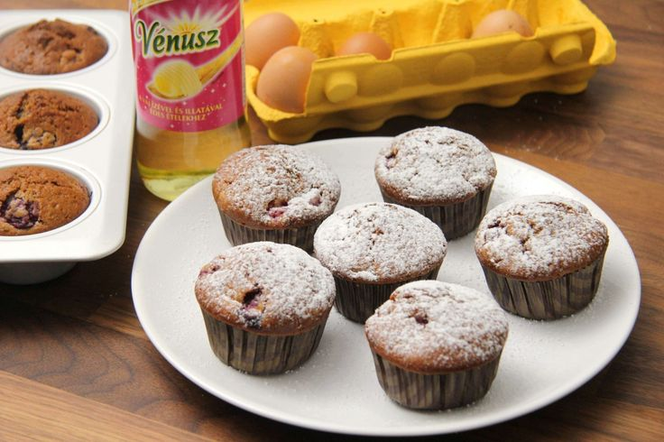 Málnás joghurtos muffin recept