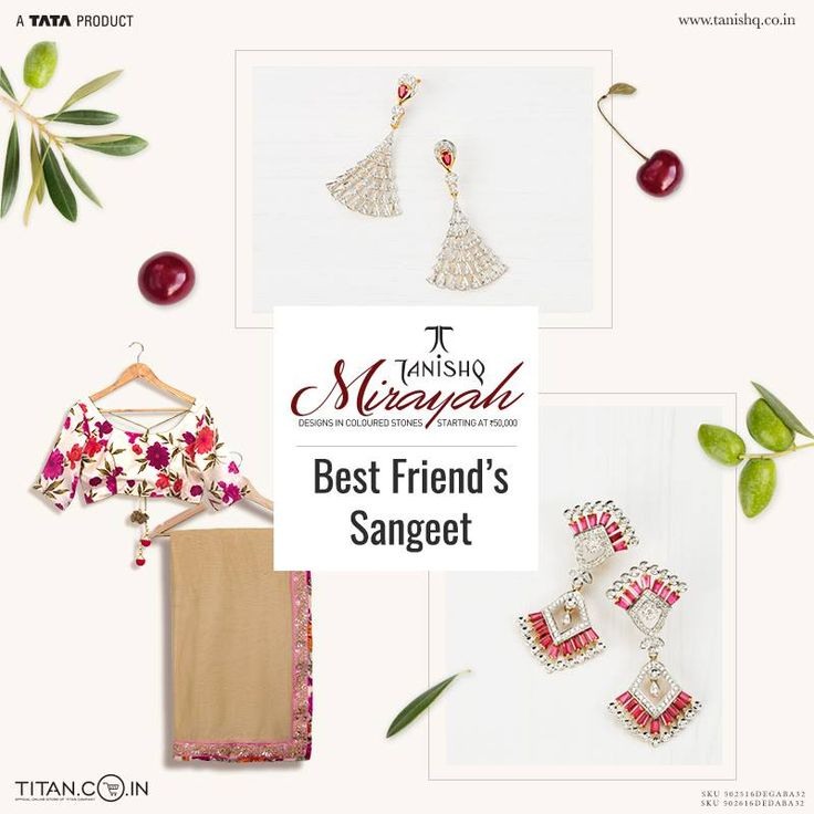Pair these stunning occasion earrings with a saree and revel in all the attention at your best friend's sangeet. #MirayahByTanishq
