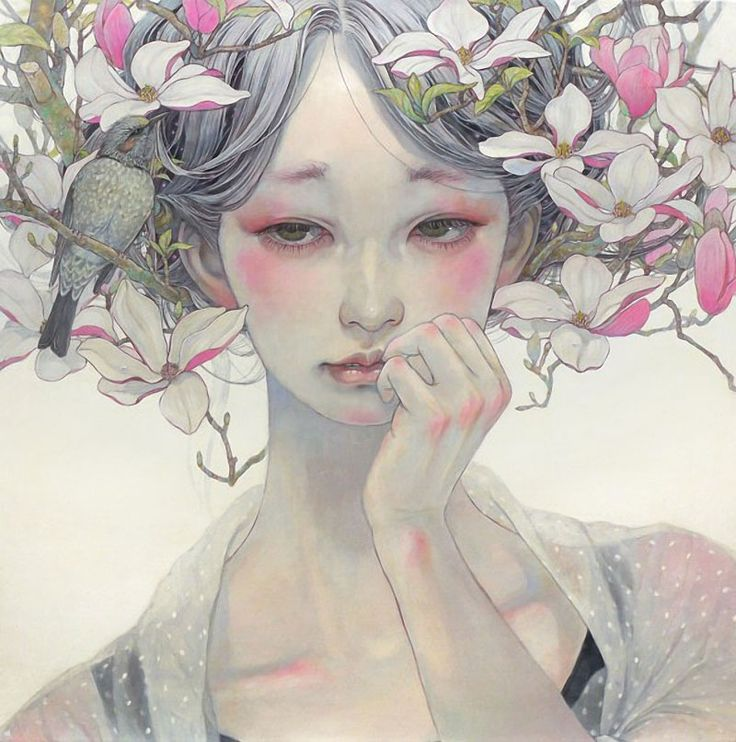 Beauties of Nature: Paintings by Miho Harano | Faith is Torment | Art and Design Blog