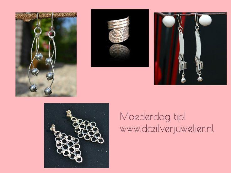 Moederdag tips! Bekijk onze prachtige sieraden van zilver 950 op www.dczilverjuwelier.nl  Unieke sieraden van zilver!