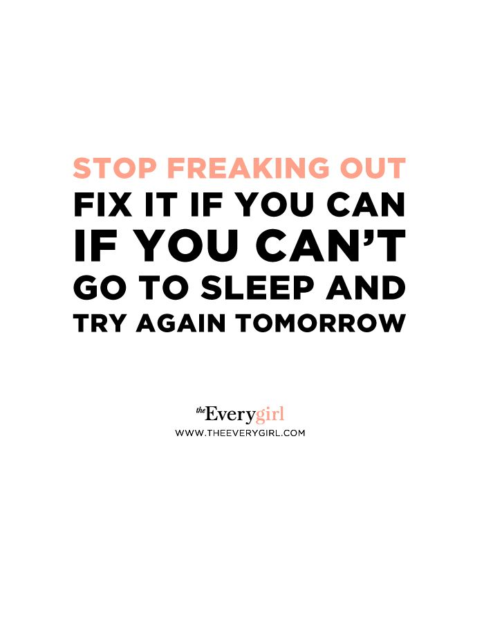 Freaking out seems like it's helping but it's not. You're not going to think of a new perfect solution by driving yourself crazy. Fix it if you can or let it go.