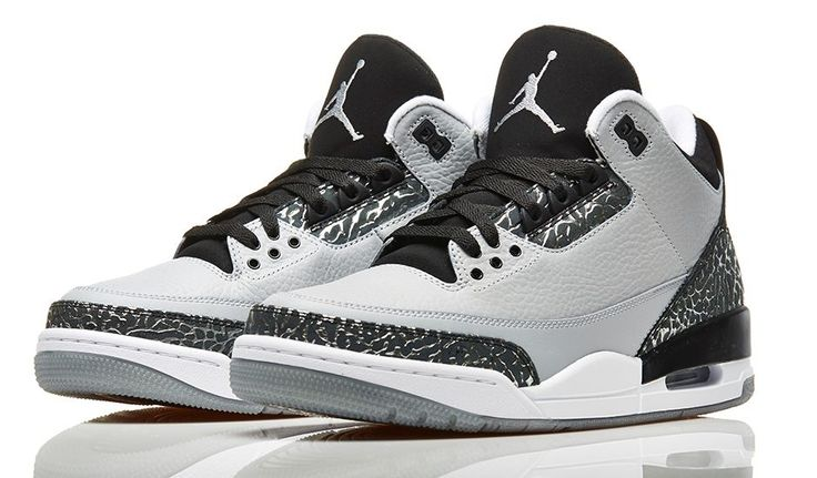 "Air Jordan 3 ""Wolf Grey"" (Official Images) 