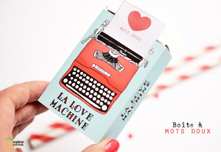 DIY : La Love Machine Box imprimable - Saint Valentin