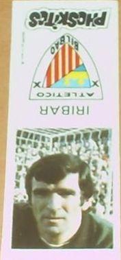 Cromo de Iríbar. Athletic Club de Bilbao. 1976. Phoskitos.