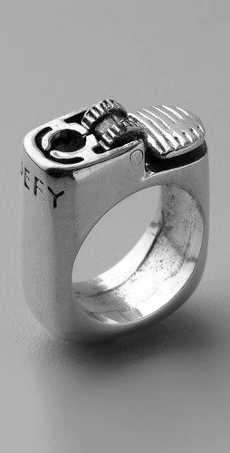 Silver ring upcycled lighter Tags: jewellery, ring, silver, recycle, upcycle