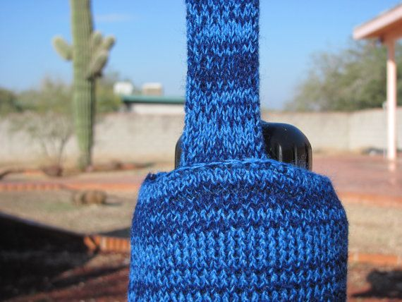 Two Shades of Blue Water Bottle Holder Cozy with by KittysKorner, $15.00