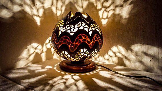 100% HANDMADE CHRISTMAS Gourd lamp art deco lamp Ottoman