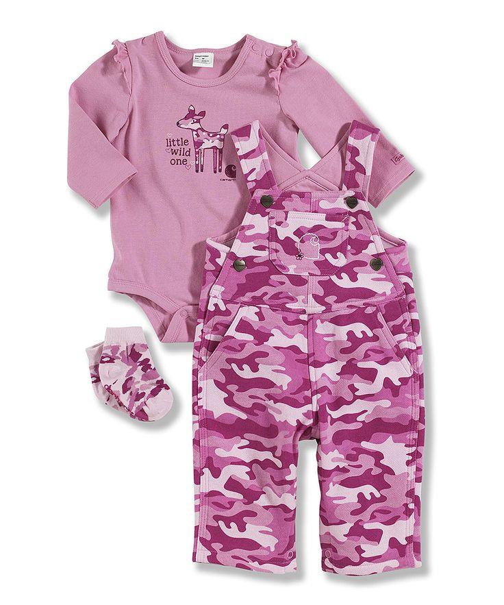 Carhartt Pink Camo Overalls Set Infant Infants Pink