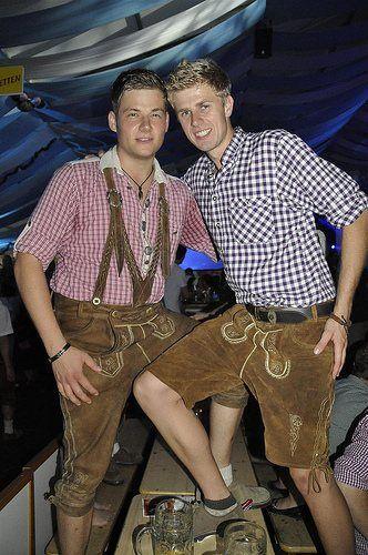Traditional German lederhosen. http://www.oktoberfesthaus.com