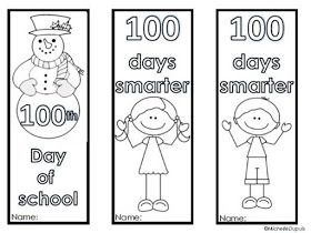 Fern Smith's Classroom Ideas!: Fern's Freebie Friday ~ FREE Bookmarks for 100 Days of School!