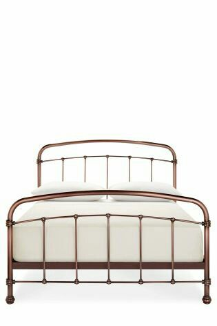 copper bed frame from next