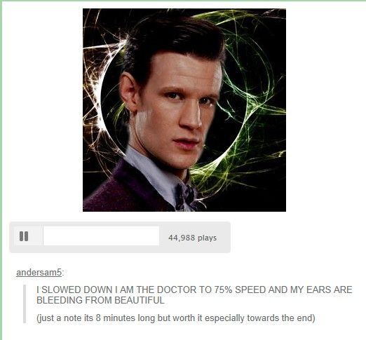 CLICK IT. IT IS THE MOST BEAUTIFUL THING I HAVE HEARD. EVEN IF YOU ARE NOT A WHOVIAN YOU SHOULD LISTEN TO IT. YOU WONT REGRET IT.