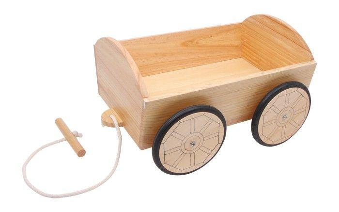 Carrito de #madera de juguete para muñecas #educacion #niños