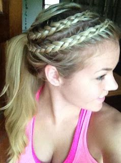 To die for: gymnastics meet hair
