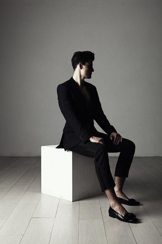 Aki Choklat Privé, Scott, Photo: Ruggero Mengoni  Model: Stefan Fugger Styling Assistant: Satu Saarno Florence, Italy.  #akichoklat #shoe #footwear #mensshoes #mensfootwear #mensfashion #black #leather http://www.akichoklat.com/