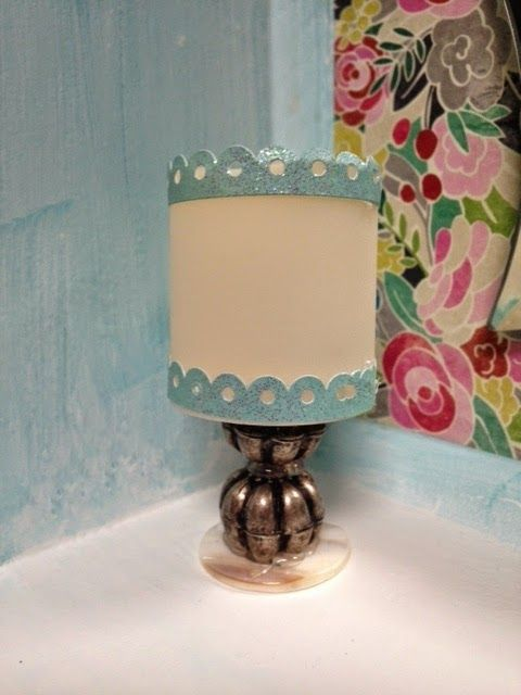 Here Is The Small Dressing Table Lamp I Made For Our New Trunk Bedroom.