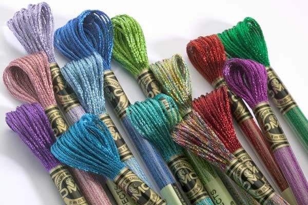 Lot of 50 skeins of DMC Light Effects Art. 317W (combination of 32 Colors) by NeedleAndCrafts on Etsy