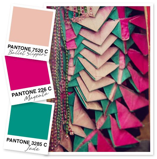Light Pink, Magenta and Jade Color Palette | Sarah Hearts