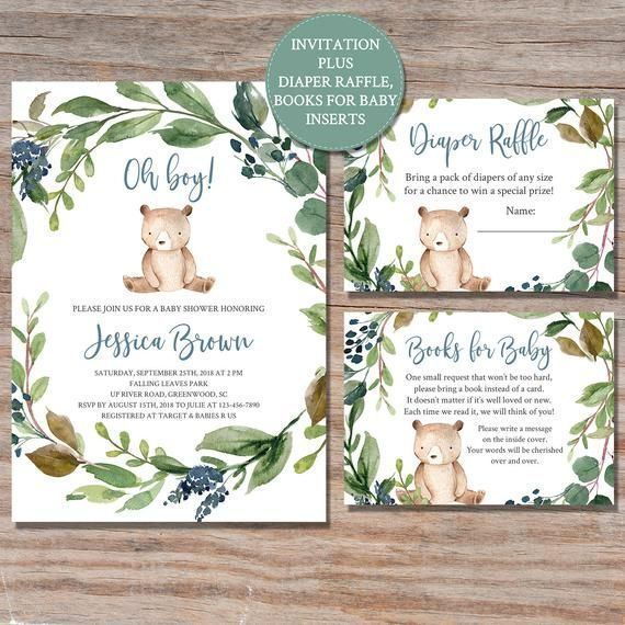 Woodland Fox Baby Shower Printable Sheets Woodland Animal Book request insertPrintable Instant Access Book Request Card