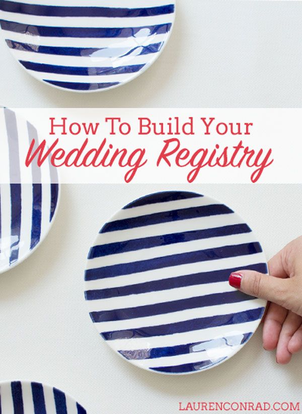How to Build Your Wedding Registry
