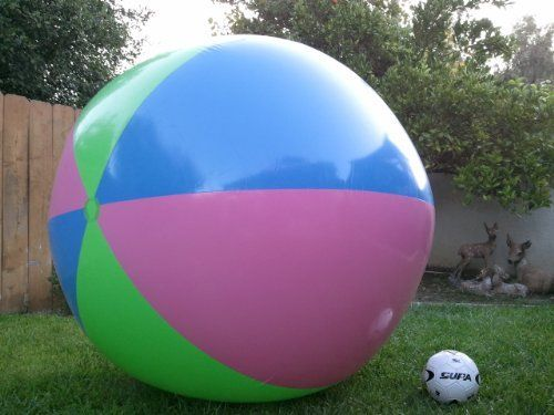 """78"""" Inflatable Large Beach Ball Party Fun, Monster Balls. Giant XXX by Petra Imports. $27.85. Huge Beach Ball. Great for any Swimming Pool or Backyard Fun.. 78""""/200cm Tall , 53""""/130cm Inflated height.. Party Ball/Beach Ball. Color Received Will Vary Between 9 Different Random Color Patterns.. Huge Beach balls.  Color Of Item Received Will Vary Between 9 Different Color Patterns.  The Colors Pattern Will Not Affect The Fun You Will Have With This Beach Ball.  Great addition to..."""